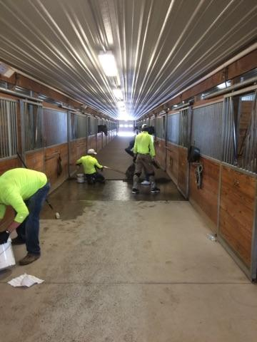 Polylast Installation at Canterbury Stables