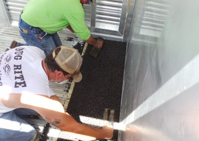 Polylast Intalling on Trailer Flooring
